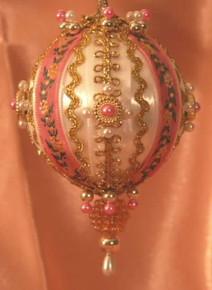 "Handmade Christmas Ornaments ""Victorian Rose Vine"""