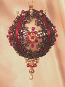 "Handmade Christmas Ornaments ""Victorian Brocade"""