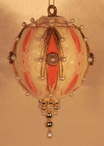 "Handmade Christmas Ornaments ""Very Victorian"" (Peach)"