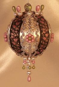 "Handmade Christmas Ornaments ""Pretty Rosevine"""
