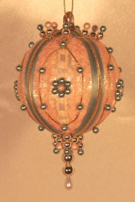 "Handmade Christmas Ornaments ""Peach Victorian"""