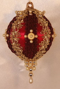 "Handmade Christmas Ornaments ""Gloria"" (Burgundy)"