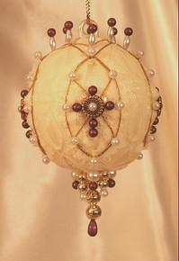 "Handmade Christmas Ornaments ""Burgundy Cross"""