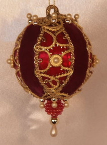 """Gilda (Burgundy)"" - Handmade Christmas Ornaments"