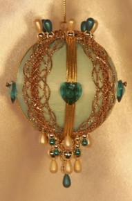 "Swarovski Crystal Birthstone Orna Mentz - ""December - Blue Zircon"""