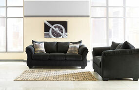 Tremendous The Darcy Black Sofa Loveseat Rocker Recliner Augeron Pdpeps Interior Chair Design Pdpepsorg