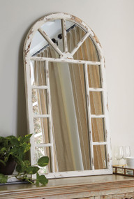Divakar Antique White Accent Mirror