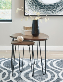 Courager Brown/Black Nesting Tables