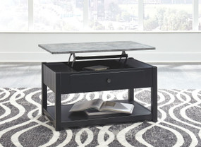 Ezmonei Black/Gray Lift Top Cocktail Table