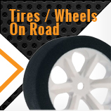 tires and wheels on road