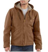 Men's Carhartt Sandstone Sierra Jacket/Sherpa Lined