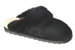 Women's Old Friend Black Sheepskin Slipper