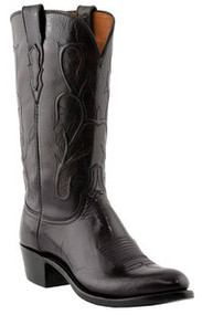 Lucchese Men's Black Cherry Buffalo Western Boot