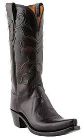 Women's Lucchese Black Cherry Snip Toe Western Boot