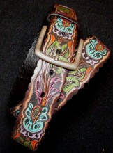Women's Hand-painted Floral Leather Belt