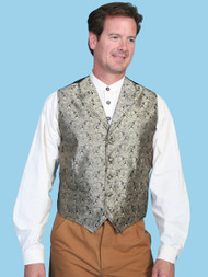 Men's Scully Taupe Western Dress Vest