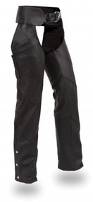 Women's Altimate Leather Motorcycle Bike Chaps