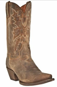 "Women's Dan Post Distressed Brown 11"" Cowboy Boot"