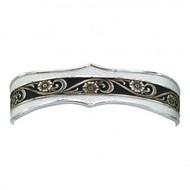 Montana Silversmiths Silver and Black Swirl Cuff Bracelet