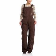 Women's Carhartt Zeeland Sandstone Bib Overall Quilt Lined