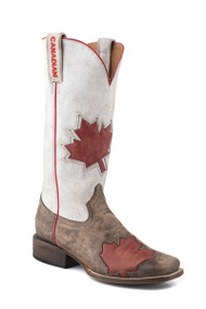 Women's Roper Square Toe Canadian Flag Boot