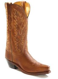 Women's Old West Tan Snip Toe Cowboy Boot