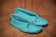 Women's Hides in Hands Turquoise Ballet Moccasin