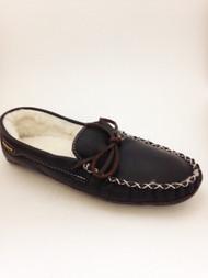 Men's Wakonsun Brown Moccasin Fleece Lining Double Leather Sole