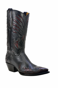 Men's Liberty Boot Co's Lefty Black and Black Cherry Cowboy Boot