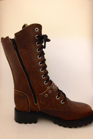 Women's Martino Brown Motorcycle Boot