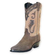 Men's Sage Brown Two Tone Western Boot