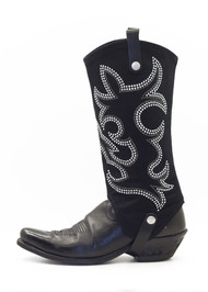 BootRoxx Cowgirl Black-Silver Boot Cover
