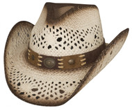 """Bullhide """"Pure Country"""" White Straw Hat"""