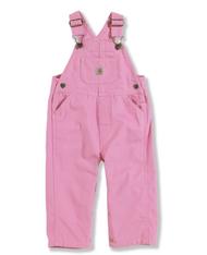 Children's Pink Carhartt Washed Duck Bib Overall