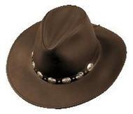 Henschel Hats Chocolate Brown Leather Hat