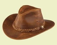 Henschel Hats Rusty Brown Leather Hat