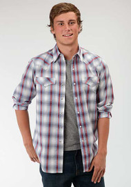 Men's Roper Sunset Plaid Long Sleeve Western Shirt