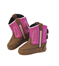 Old West Dark Pink Kid's Cowboy Boots (Infant's sz 0-4)