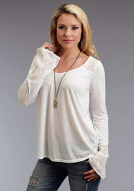 Women's Stetson Long Sleeve Knit Peasant Top