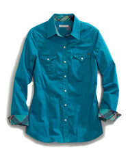 Women's Tin Haul Teal Shirt