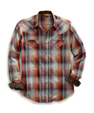 Men's Tin Haul Blanket Ombre Plaid Longsleeve Shirt