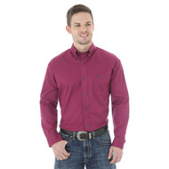 Men's Wrangler 20x Solid Magenta Shirt