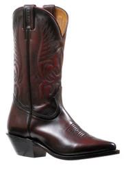 Women's Boulet Black Cherry Snip Toe Western Boot