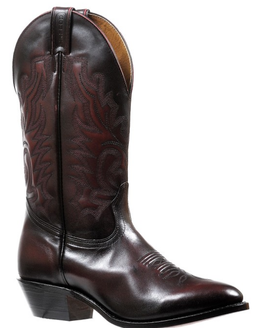 f08942cf59d Men's Boulet Black Cherry Medium Round Toe Western Boot