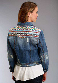 Women's Stetson Denim Jacket with Embroidered Yoke