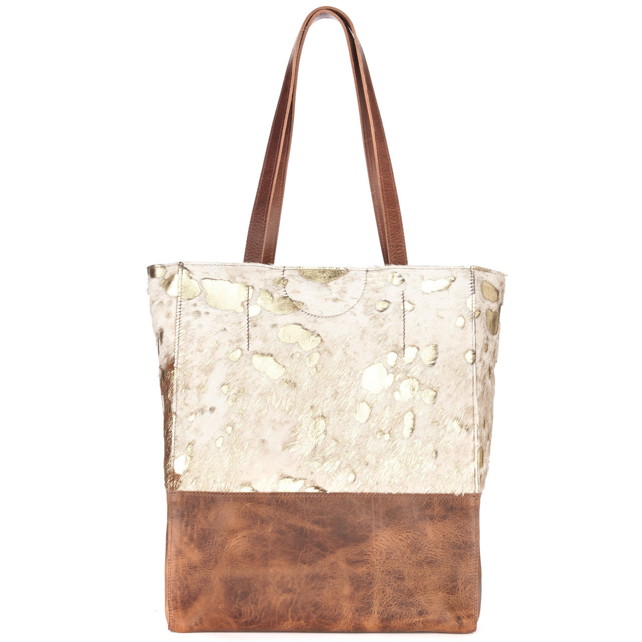 000dd6a7f0 Brave Saloso Tote Cowhide with Gold - Herbert s Boots and Western Wear