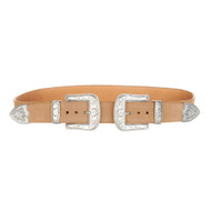 Brave Leather Frankie Double Buckle Suede Belt