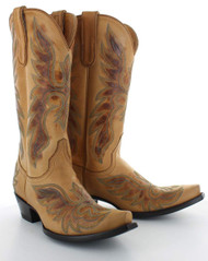 "Women's Old Gringo Brave 13"" Honey Embroidered Boot"