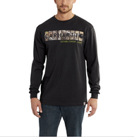 Men's Carhartt Graphic Camo Block Logo Long-Sleeve