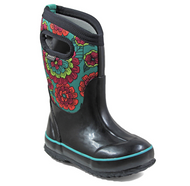 Kid's Bogs Classic Insulated Pansies Black Multi Rated -34C